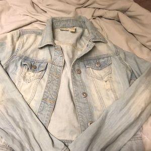 Distressed Denim Mudd Jacket